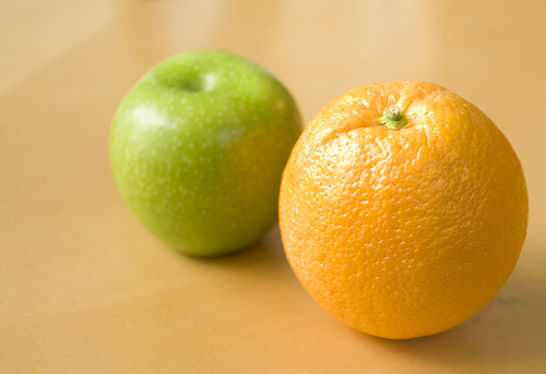 Comparing Apples and Oranges, is kind of like comparing airplanes