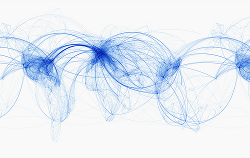Picture of the Worlds Airlines Routes
